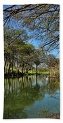 Cypress Bend Park Reflections Beach Towel