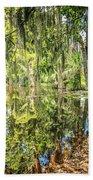 Cypress Pond Delight Beach Towel