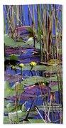 Cypress Pond Tranquility Beach Towel