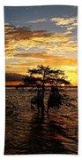 Cypress Sunset Beach Towel