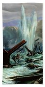 D Day Beach Towel by Orville Norman Fisher