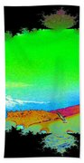 Da Mountain Sail In Fractal Beach Towel