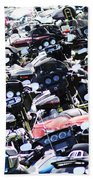 Harley-davidson Rally Beach Towel
