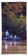 Dad And Sons Fishing Beach Towel