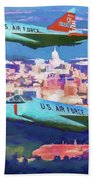 Daggers Over Madison In Oil Beach Towel