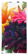 Dahlia Bouquet Beach Towel