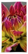 Dahlia Flame Beach Towel