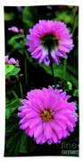 Dahlia Mirror Beach Towel