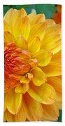 Dahlias Art Prints Orange Dahlia Flowers Baslee Troutman Beach Towel
