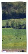 Dairy Farm In The Finger Lakes Beach Towel