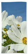 Daisies Flowers Art Prints White Daisy Flower Gardens Beach Towel