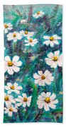 Daisies Golden Eyed Beach Towel