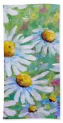 Daisies In Spring Beach Towel