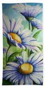 Daisy Blue Beach Towel