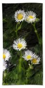 Daisy Day Fantasy Beach Towel