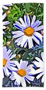 Daisy Flower Garden Abstract Beach Towel