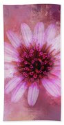 Daisy In Magenta Beach Towel
