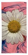 Daisy Swirls 1 Beach Towel