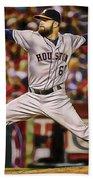 Dallas Keuchel Baseball Beach Towel