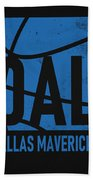 Dallas Mavericks City Poster Art Beach Towel