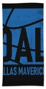 Dallas Mavericks City Poster Art Beach Towel