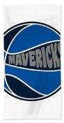 Dallas Mavericks Retro Shirt Beach Towel