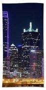 Dallas Purple Night 71417 Beach Towel
