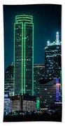 Dallas Skyline Beach Towel