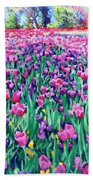 Dallas Tulips Beach Towel