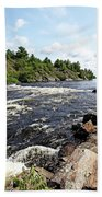 Dalles Rapids French River Iv Beach Towel