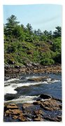 Dalles Rapids French River Ontario Beach Towel