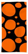 Dalmatian Pattern With A Black Background 03-p0173 Beach Towel