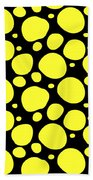 Dalmatian Pattern With A Black Background 05-p0173 Beach Towel