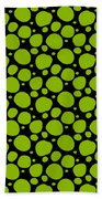 Dalmatian Pattern With A Black Background 09-p0173 Beach Towel