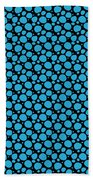 Dalmatian Pattern With A Black Background 18-p0173 Beach Towel