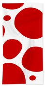 Dalmatian Pattern With A White Background 02-p0173 Beach Towel