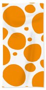 Dalmatian Pattern With A White Background 03-p0173 Beach Towel