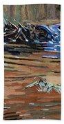 Dam Beavers Beach Towel by Phil Chadwick