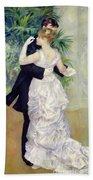 Dance In The City Beach Towel by Pierre Auguste Renoir