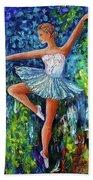 Dance In The Rain Of Color  Beach Towel
