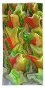 Dance Of The Appetizers Beach Towel
