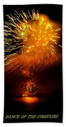 Dance Of The Fireflies Beach Towel