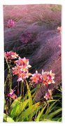 Dance Of The Orchids Beach Towel
