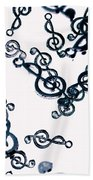 Dance Of The Treble Clef  Beach Towel