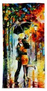 Dance Under The Rain Beach Towel