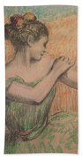 Dancer Beach Towel by Degas