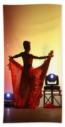 Dancer In The Shadows Beach Towel