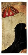 dancer of Ancient Egypt Beach Sheet