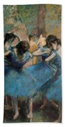Dancers In Blue Beach Towel by Edgar Degas