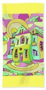 Dancing House Beach Towel